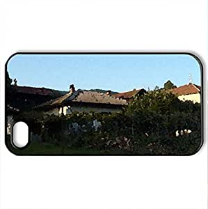 Dobrodan - Case Cover for iPhone 4 and 4s (Houses Series, Watercolor style, Black)