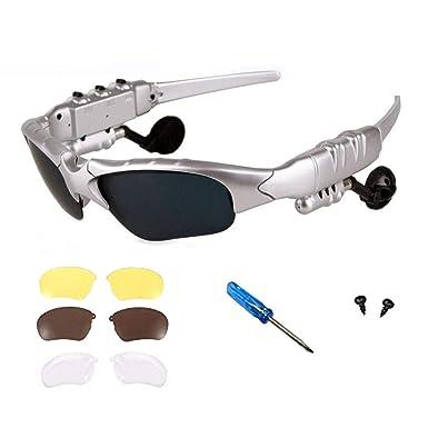 Inalámbrica Bluetooth auriculares estéreo 4.1 música anti-ray Bluetooth gafas de sol para hombres apoyo