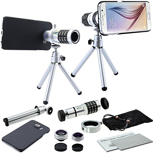 SWT 12xZoom Optical Telephoto Camera Lens + Tripod For Samsung Galaxy S7 Edge Smartphone