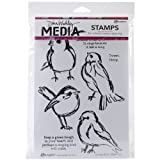 Dina Wakley Media Rubber Scribbly Birds Cling Stamps, Multi-Colour by Ranger