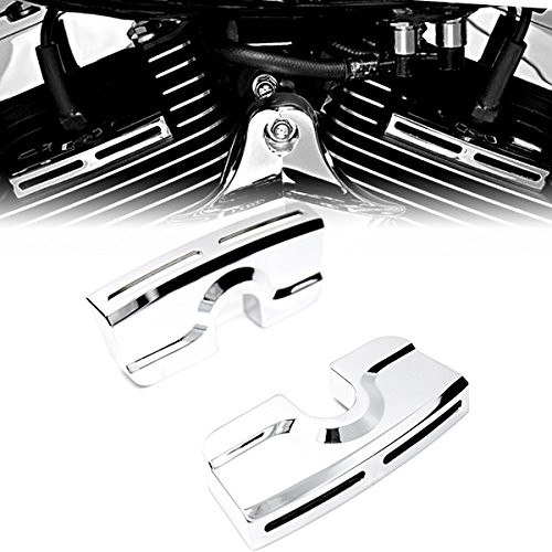 Bolt Head Covers Harley - Chrome Spark Plug Head Bolt Covers For Harley Dyna Softail Twin Cam 99-17 Model
