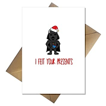 funny star wars christmas card darth vader felt your presents