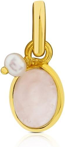 Colgante TOUS Tiny de plata vermeil con cuarzo rosa y perla