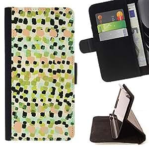 Momo Phone Case / Flip Funda de Cuero Case Cover - Arte Cuadrados Pintura Patrón - Samsung Galaxy Core Prime