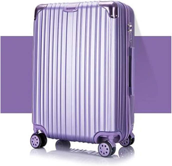 Best Gift Color : Purple, Size : 24 Bahaowenjuguan Hard Rotating Suitcase 20//24 inch Carry-on Luggage Travel Organizer Silver Trolley case