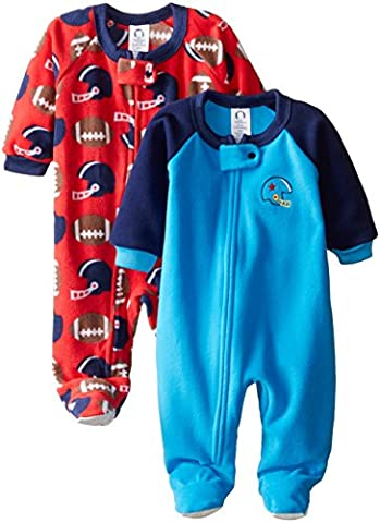 Gerber Baby-Boys Newborn Football 2 Pack Blanket Sleepers, Football, 18 Months - Baby Boy Pajamas