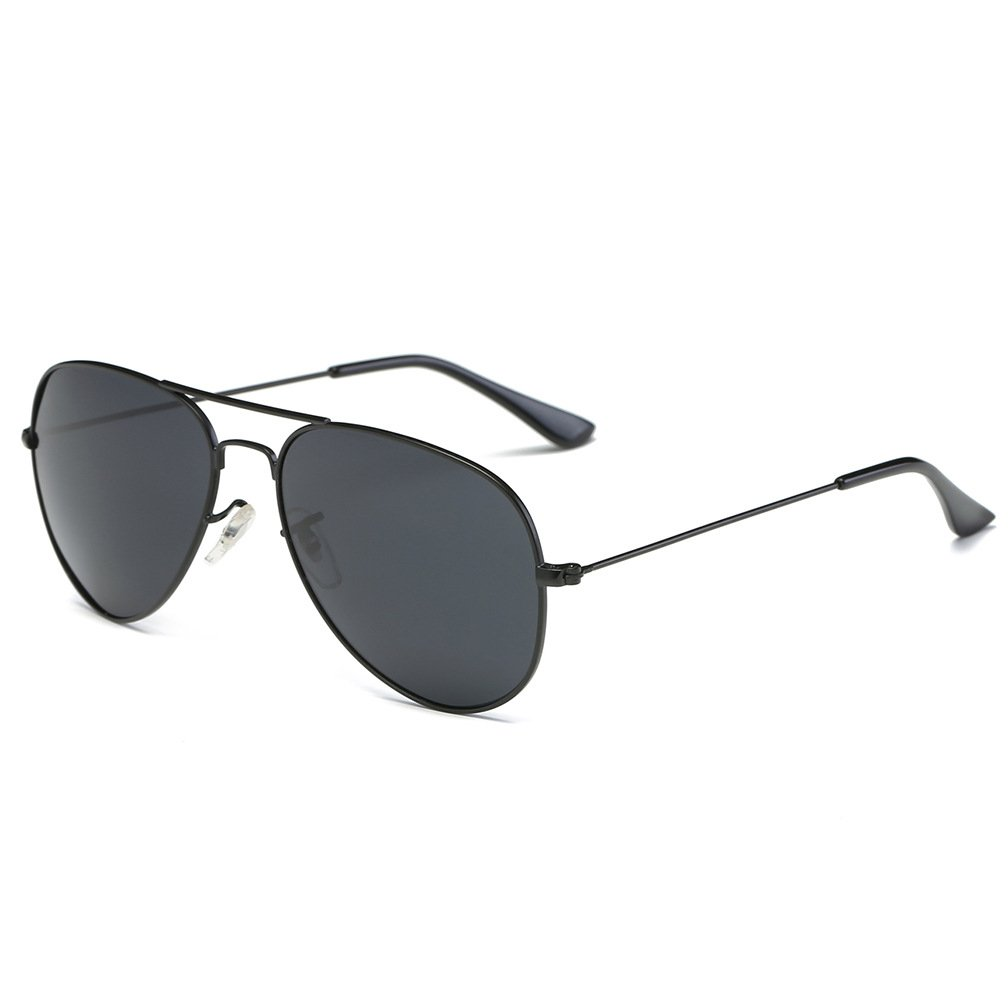 ef51e4bc1c Amazon.com  Classic Aviator Sunglasses Driving Flat Lens Metal Frame with  Spring Hinges Y2150  Clothing