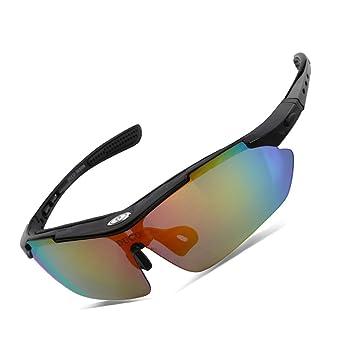 370d471f47 Duco Gafas de Sol Ciclismo Gafas de Sol al Aire Libre para Atletas polarizados  5 Lentes Intercambiables UV400 SP0868 (Marco Negro): Amazon.es: Deportes y  ...