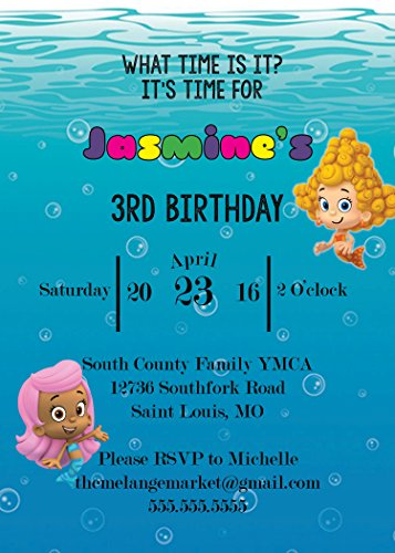 Customized Bubble Guppies Birthday Invitation