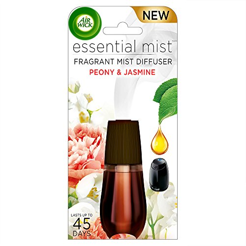 (Air Wick Essential Oils Diffuser Mist Refill, Peony & Jasmine, 1ct, Air Freshener)