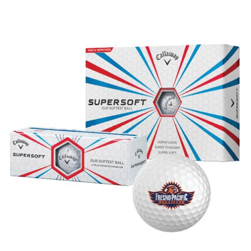 Fresno Pacific Callaway Supersoft Golf Balls 12/pkg 'Official Logo' by CollegeFanGear