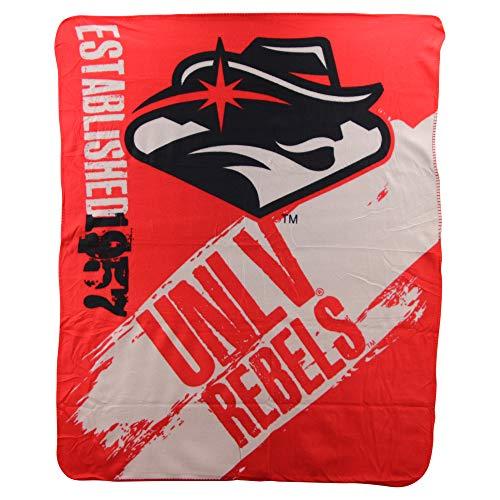 The Northwest Company NCAA Collegiate Paint Lightweight Fleece Throw Blanket (UNLV Rebels)