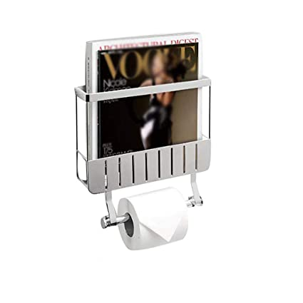 Amazon Com Toilet Roll Holder With Magazine Rack And