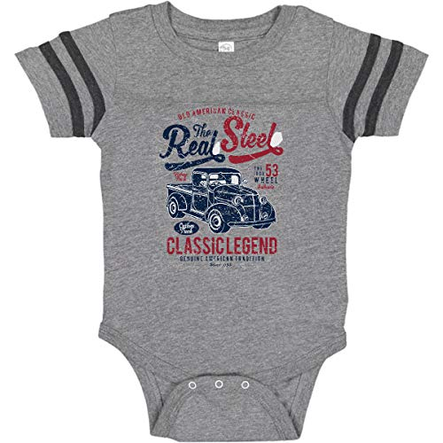 Inktastic the Real Steel Infant Creeper 6 Months Football Heather and Smoke