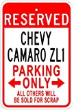CHEVY CAMARO ZL1 Parking Sign - 10 x 14 Inches