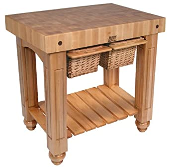 Groovy Amazon Com American Heritage Gathering Block Ii Prep Table Beutiful Home Inspiration Cosmmahrainfo