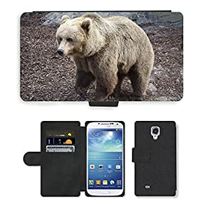 Super Stella Cell Phone Card Slot PU Leather Wallet Case // M00104829 Bear Teddy Animal Zoo // Samsung Galaxy S4 S IV SIV i9500