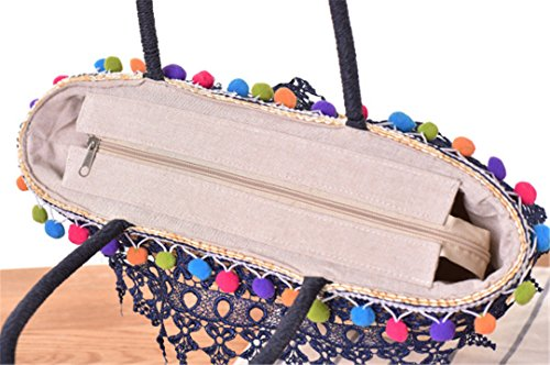 Casual Weaving Lace Summer Shoulder Tassel MANFDGABNGS 01 Straw ST001 South Ladies Handbag Beach Shoulder Korea's Bag Holiday Bag Bags 1qR4twg