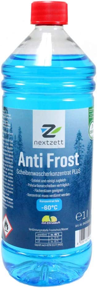 Nextzett Anti-Frost Winter Windshield Washer Fluid Concentrate
