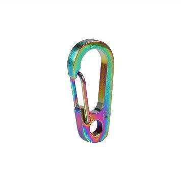 VGEBY1 Mini mosquetón, aleación de Titanio minúsculo mosquetón Llavero Climbing Clips Snap para Acampar Senderismo Pesca Viajes al Aire Libre(Color ...
