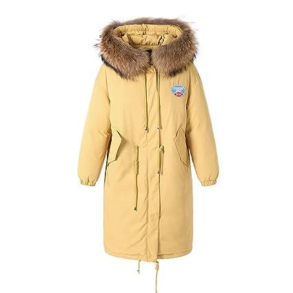 Abrigos Chaqueta de Abajo Hembras de Invierno Cálido y Popular Chaqueta de Abajo Mullido Collar Largo
