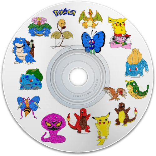 Belindas Studio - Digitized Embroidery Pokemon 1 Machine Embroidery Designs CD For Brother Embroidery Machine