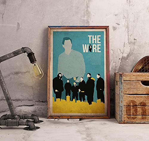 MugKD LLC The Wire Poster Alternative Movie Poster tv Show Poster Crime Baltimore Poster Maryland Poster City Poster Omar Idris Elba Dominic West [No Framed] Poster Home Art Wall Posters (24x36)