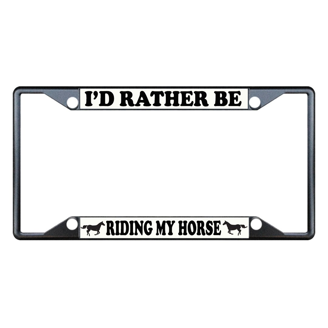 Fastasticdeals Id Rather Be Riding My Horse License Plate Frame Tag Holder Cover