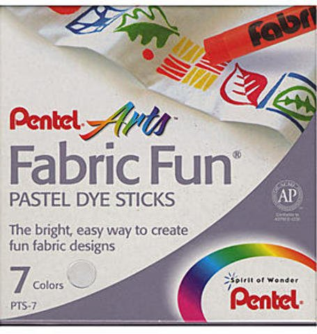 (Pentel Pastel Fabric Fun Crayons (Set of 7) 5 pcs sku# 1840734MA)