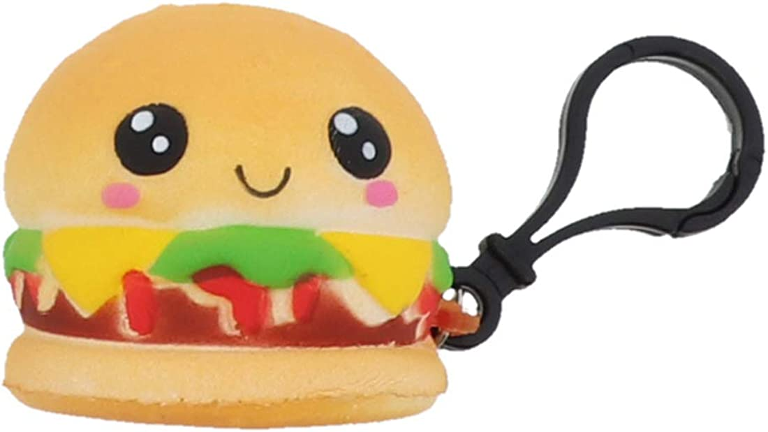 Squishy Food Keychain Charm Food Lover Stress Relief Great Gift