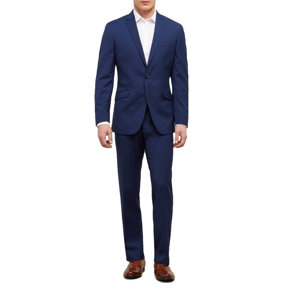 Reaction Kenneth Cole Slim Fit Nested Mini Check Suit With Fini - Men's - Bright by Kenneth Cole REACTION