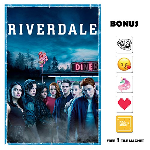 Riverdale Poster 13 in x 19 in Poster Flyer Borderless + Bonus 1 Free Tile Magnet