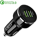 Quick Charge 3.0 Car Charger, 48W 6A Dual QC 3.0 Fast USB Car Charger for Apple & Android Devices.