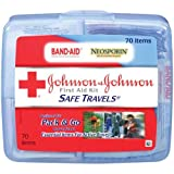 Johnson and Johnson Safe Travels 70-Item First Aid Kit -- 24 per case.