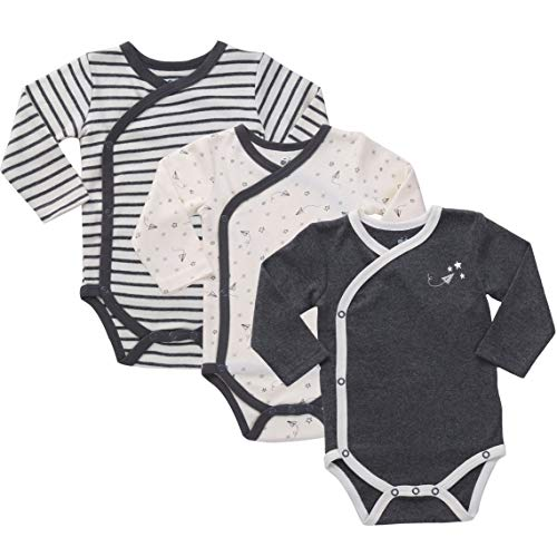 Preemie Clothes Baby Kimono Side Snap Onesie Boy Long Sleeve Bodysuit - Preemie Shirt Sleeved Long