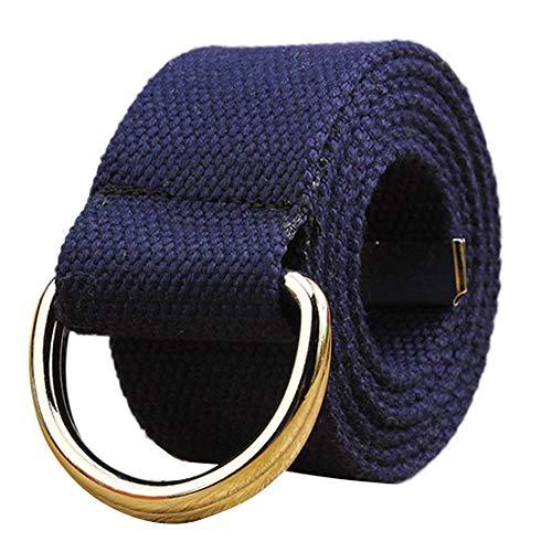 WKDYBD Men's Womens Waistband,Fashion Canvas Elastic Waist Band Belts Gold -