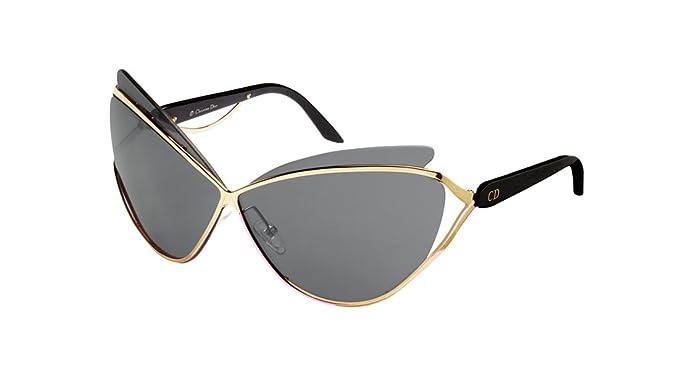 90c42b9235b9 Christian Dior Audacieuse 1 Cateye Pale Gold Black Sunglasses 4bty1 ...