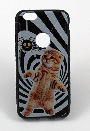 """Silikon Handy Back Case Cover Schale """"Katze"""" für """"Apple Iphone 6"""" Schutz Hülle Tasche Bumper"""