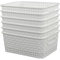 Sandmovie - Cestas Tejidas de plástico, 6 Unidades