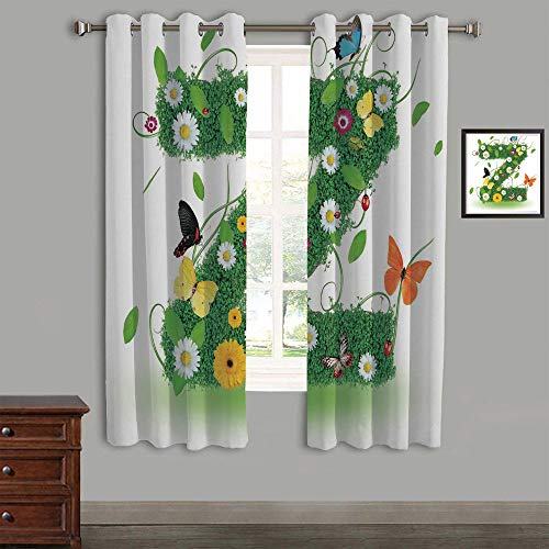 AngelSept Polyester Curtains Back Tab and Rings top Outdoor Curtains 2 Panels,58