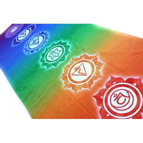 Serviette de Yoga 7 Chakras 171 x 61 cm.