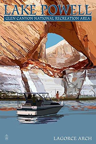 Lake Powell - LaGorce Arch (12x18 Fine Art Print, Home Wall Decor Artwork Poster) (Lake Powell Print)