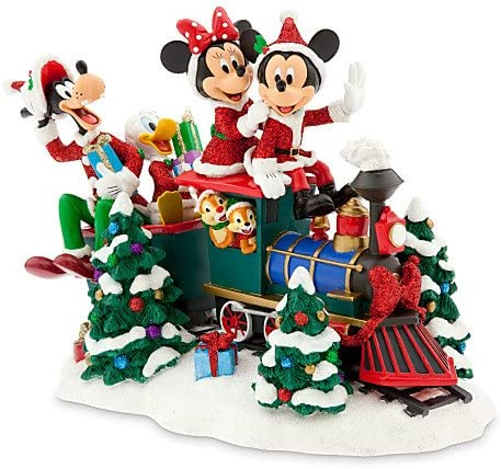 Addobbi Natalizi Walt Disney.Disney Natale Topolino Santa Train Treno Con Donald Goofy Minnie E Altri Amazon It Casa E Cucina