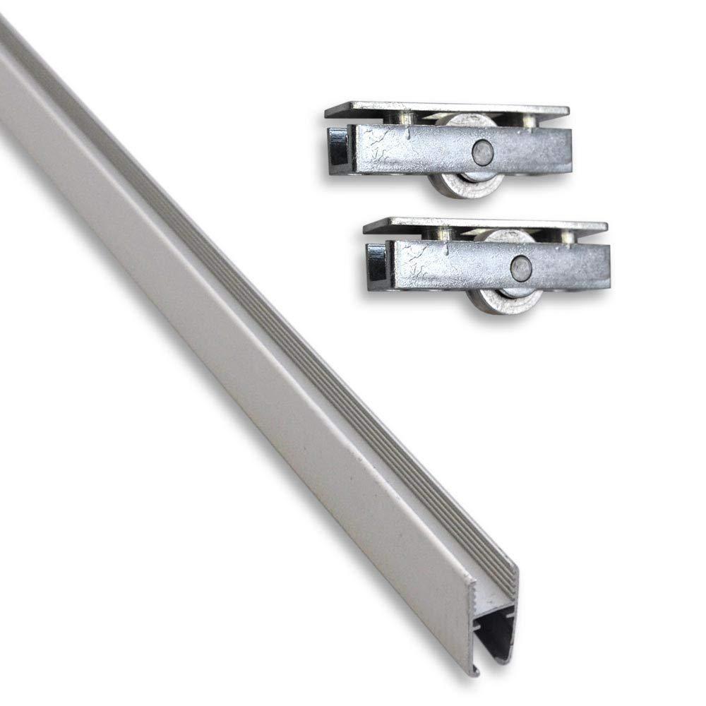 Rodamientos de acero inoxidable para puertas correderas de muebles 2 unidades 30 kg plateado