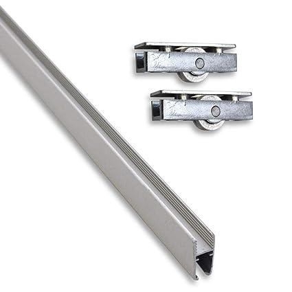Montaje Juego compuesto de aluminio de montaje riel (0,95 m) para cristales