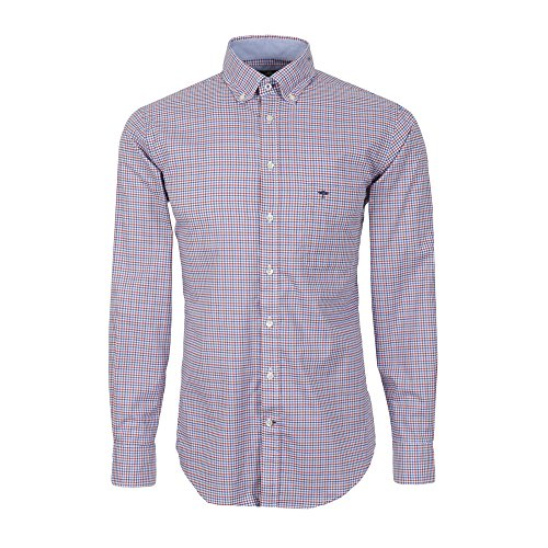 Fynch Hatton Herren Freizeit Hemd Shirt Knitwear Combi Check Button Down Kragen kariert