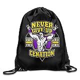 WWE Never Give Up Cenation John Cena Drawstring Backpack Bag White
