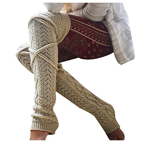 c3f5fb06ee lovely Inkach Womens Thigh High Over Knee Socks Boot Socks Leg ...