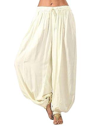 Mujeres Pantalones Anchos Pierna Baggy Largos Palazzo ...