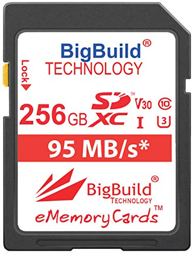 BigBuild Technology 256GB UHS-I U3 95MB/s Memory Card For Canon PowerShot SX420 IS, SX430 IS, SX520 HS, SX530 HS, SX540…